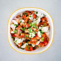 Poisson cru en salade citronnée