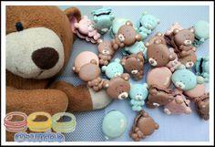 teddy macarons by Crumbs https://www.facebook.com/crumbs.macaron