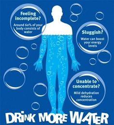 Drink more water to eliminate, lose weight, detox and stay healthy! #T30