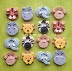 Image result for Jungle Animal Cupcake Toppers
