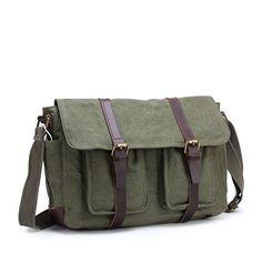 233ac0f201 Vintage 15 inch Laptop Messenger Shoulder Satchel Bag     Amazon most  trusted e-