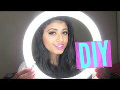 Como fazer um RING LIGHT, iluminação para vídeo melhor que softbox   DIY   DANIEL MOONEY - YouTube