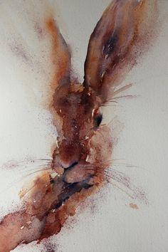 Almost Hare by Jean Haines, Watercolour.