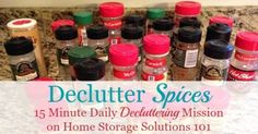 Declutter spices mission, on Home Storage Solutions 101 as one of the #Declutter365 missions