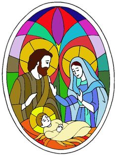 Christmas Mosaics, Christmas Yard Art, Christmas Nativity Scene, Christmas Drawing, Christmas Crafts, Stained Glass Church, Stained Glass Crafts, Stained Glass Patterns, Dream Catcher Vector