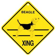 Beagle Xing caution Crossing Sign dog Gift KC Creations https://www.amazon.com/dp/B0047P8KAQ/ref=cm_sw_r_pi_dp_x_rT08xbVZW6VHV