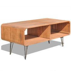 Vintage TV Unit Small Retro Stand Industrial Coffee Table Living Room Media Wood in Home, Furniture & DIY, Furniture, TV & Entertainment Stands | eBay!