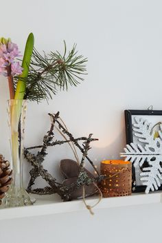 Danish clothes designer's home at Christmas