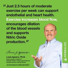 Heart & exercise health tip from Nobel Laureate Dr. Louis Ignarro