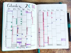 Work Bullet Journal Calendex