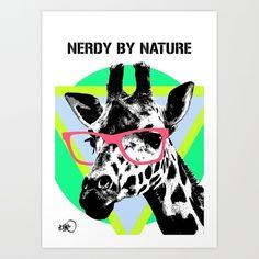 nerdy by nature Art Print | Print Shop