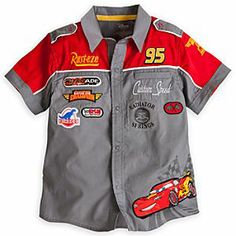 Disney Lightning McQueen Shirt for Boys | Disney StoreLightning McQueen Shirt for Boys - Join the Piston Cup Champion pit crew with our woven Cars mechanic's shirt. Colorful embroidered race insignia and Lightning McQueen appliqu� are only a part of the high-end detailing on this totally primed Pixar fashion.