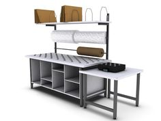 OnePointe designs the very best custom Packing Stations, Order Stations, and Shipping Stations. http://www.onepointesolutions.com/workbench-styles/packing-shipping-stations/packing-stations