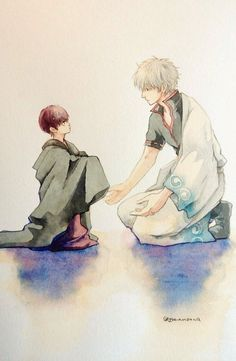 Gintama Funny, Gintama Wallpaper, Anime Films, Anime Chibi, Watercolor, Manga, Drawings, Artist, Painting