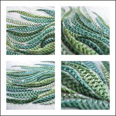 Tracy A Franklin - specialist embroiderer: Herringbone stitch