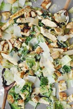 Grilled Chicken Caesar Salad with homemade caesar dressing
