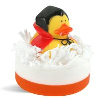 DIY Soap Making Recipes - Halloween Ducks.  This super adorable handmade soap features a spooky rubber duck perfect for Halloween.