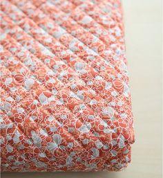 Fiori di tessuto di cotone trapuntato - rosso - dal cantiere 64583-355