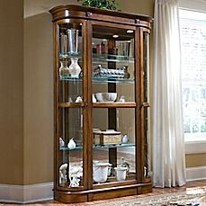 Console Curio Cabinet   Golden Oak III   I Am Seriously Considering Getting  This To Dedicate To My Dougger With His Speciu2026   Ashley Furniture Goodies!