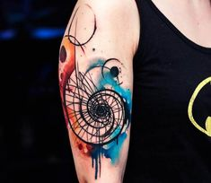 Sketchy Spiral tattoo by Uncl Paul Knows