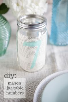 Something Turquoise DIY Mason Jar Table Numbers Tutorial!