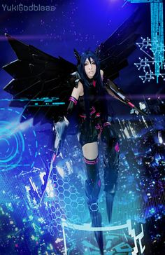 Accel World - Black Lotus cosplay by *yukigodbless on deviantART #cosplay