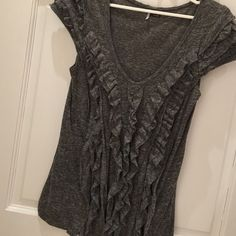Ruffle Tshirt Sparkle & Fade super cute Tshirt • throw it on with jeans • add a flannel...good to go! • soft • great condition  Urban Outfitters Tops Tees - Short Sleeve