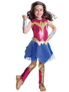Check out Girl's Batman v Superman Deluxe Wonder Woman Costume - Wholesale Party Supplies from Wholesale Halloween Costumes