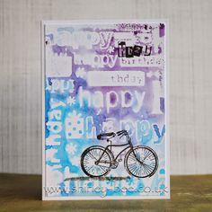 shirley-bee's stamping stuff: Birthday Bicycle
