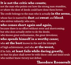 In the Arena - Teddy Roosevelt