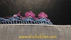 Boncuklu tığ oyası yapılışı #crochet #örgü #needle #iğneoyası #iğneoyaları #yazma #elisi