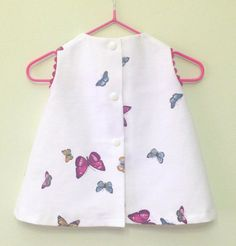 Baby girl dress butterflies pink babby girl by LauritasPlace