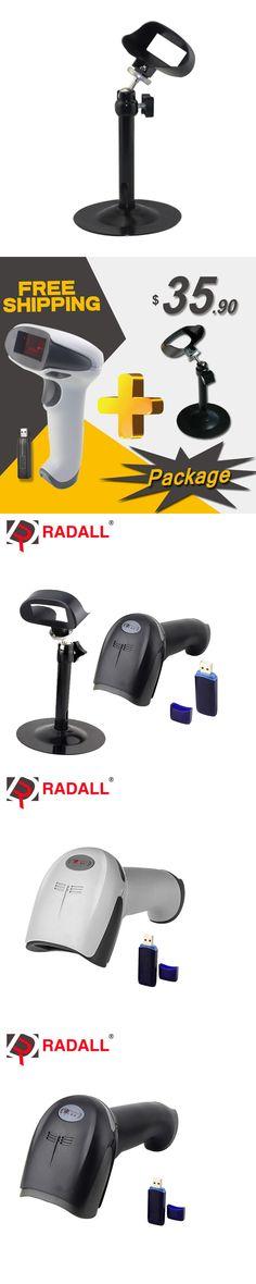 RD-1908 with stand 1d  laser bar code scanner supermarket wireless scanner code bar reader with bracket/ stand