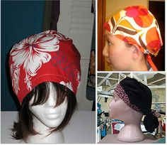 going to start making scrub caps for the hospital, extra money boo-yah! Scrubs Pattern, Scrub Hat Patterns, Hat Patterns To Sew, Sewing Patterns Free, Free Sewing, Sewing Tutorials, Clothing Patterns, Sewing Ideas, Nurse Hairstyles