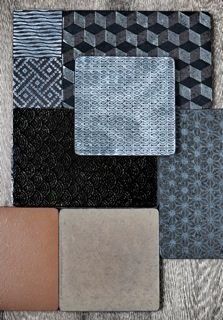 love these lava stone tiles Tile Patterns, Shape Patterns, Textures Patterns, Color Patterns, Mood Board Interior, Interior Design Living Room, Tapas, Made A Mano, Tiles Price