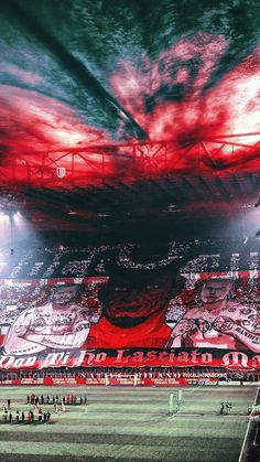 Curva Sud MilanoYou can find Ac milan and more on our website. Milan Football, Football Is Life, College Football, Ac Milan Kit, Stadium Wallpaper, Milan Wallpaper, Manchester United Players, Soccer Pictures, European Soccer