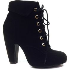 Bamboo Black Mozza Lace-Up Bootie