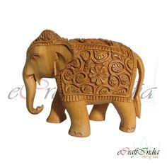 Hand Carved Elephant by E - Wood Decora la Maison