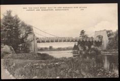 ca-1910-AMESBURY-NEWBURYPORT-MASSACHUSETTS-MA-Old-Chain-Bridge-Postcard