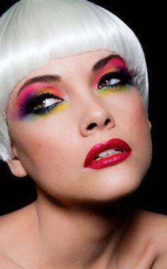 Rainbow makeup x
