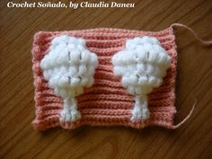 "Crochet Jacquard: ""TREE STITCH"" / ""PUNTO ÁRBOL"""