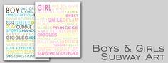 boys & girls subway art