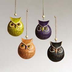 Wood carved ornaments, again at World Market. I LOVE THESE!!!