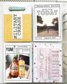 Project Life 6x8, Project Life Freebies, Studio Calico, Life Inspiration, First Day Of School, Happy Planner, Photo Book, Craft Projects, Memories