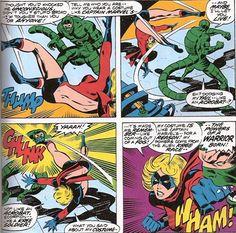 Miss Marvel Marvel Comics Art, Ms Marvel, Captain Marvel, Marvel Heroes, Comic Art, Comic Books, John Buscema, Manga, Cool Stuff