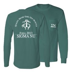 Sigma Nu Quality Rush // College Hill Custom Threads Fraternity Rush Shirts, Fraternity Paddles, Phi Delta Theta, Sigma Chi, Spring Recruitment, Greek Apparel, Sorority Shirts, Chi Omega, Shirt Ideas