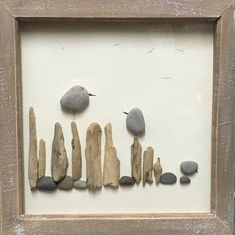 Driftwood, bird, Pebble Art, romantic, framed Picture, rustic home decor, unique gift, stone, OOAK, wall art, beach, gift for Dad Thank you for visiting Sarahs Craft Chest Pebble Art ...............Creating emotion with natural materials. My creations are hand crafted and are
