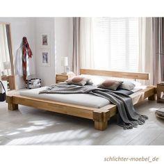 VICTORIA Holzbett Massivholzbett Doppelbett Bett Massiv - Kernbuche, 200x200