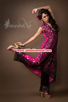 latest munaza party dresses 2013 for women 3