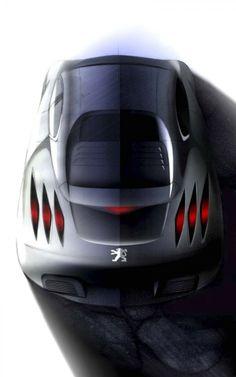 Peugeot 908 RC Design Sketch